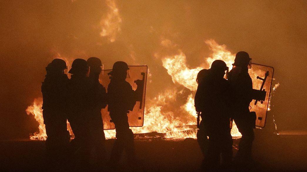 Кале: перед ликвидацией лагеря мигранты сожгли туалеты