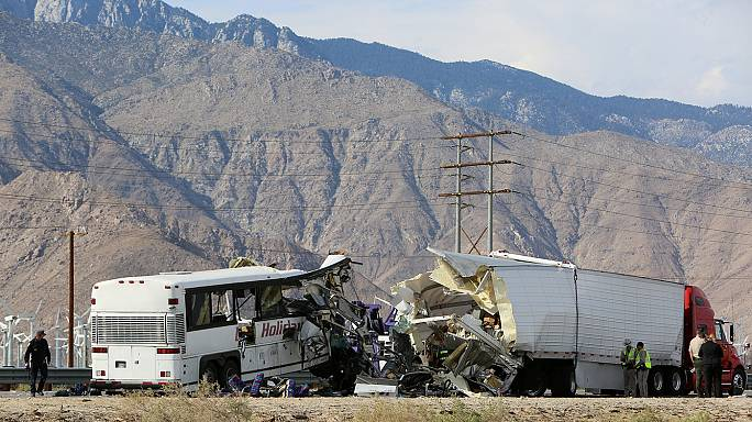 California bus crash kills 13