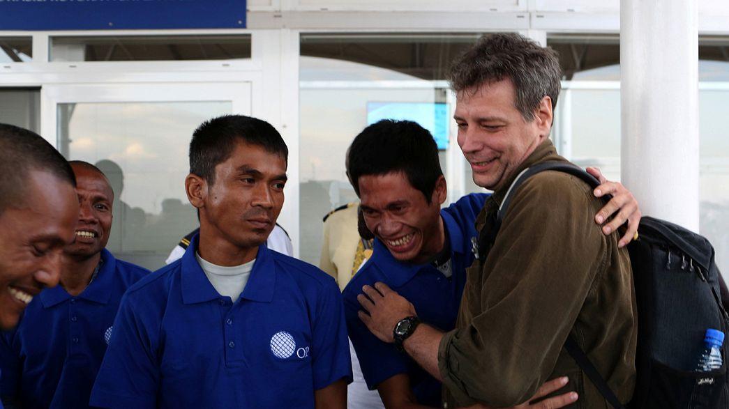 Korsanların beş yıl rehin tuttuğu 26 kişi serbest