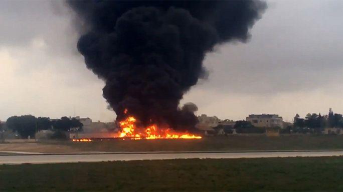Lezuhant egy kisrepülőgép Máltán, Frontex-tisztek utaztak rajta