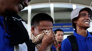 Les 26 otages asiatiques libérés par des pirates somaliens sont arrivés au Kenya