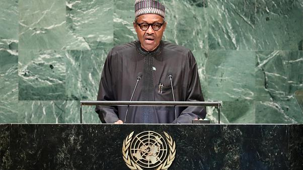 Image: Nigerian President Muhammadu Buhari addresses the United Nations Gen