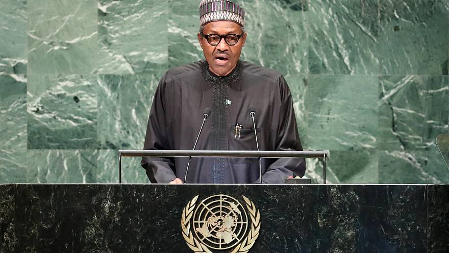 Image: Nigerian President Muhammadu Buhari addresses the United Nations Gen