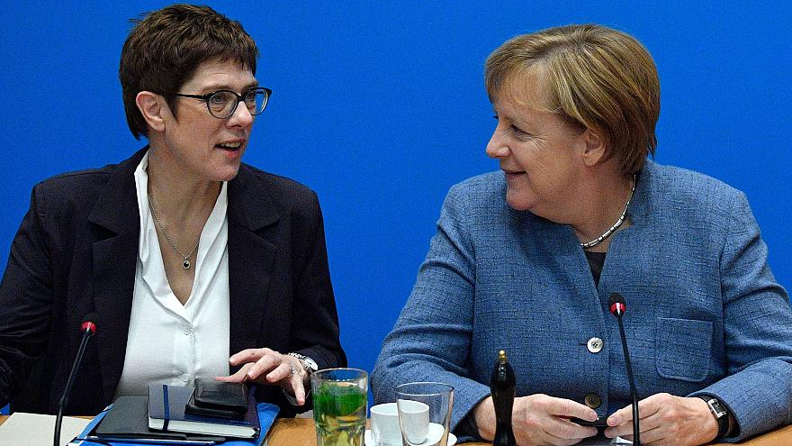 Image: German Chancellor and leader of the Christian Democratic Union Angel