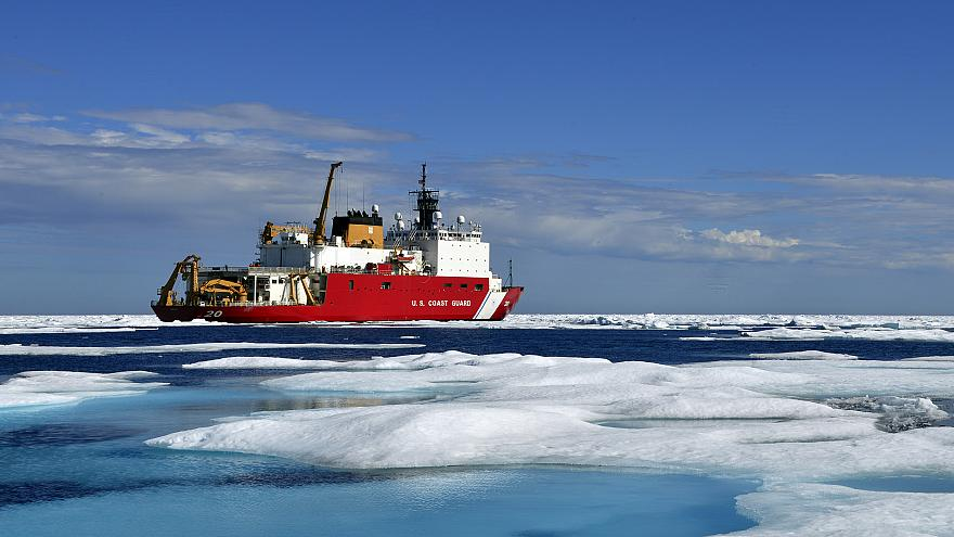 Coast Guard Cutter Healy deployed in support of Operation Arctic Shield 201