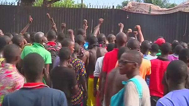 Manifestación contr la ONU en la República Centroafricana