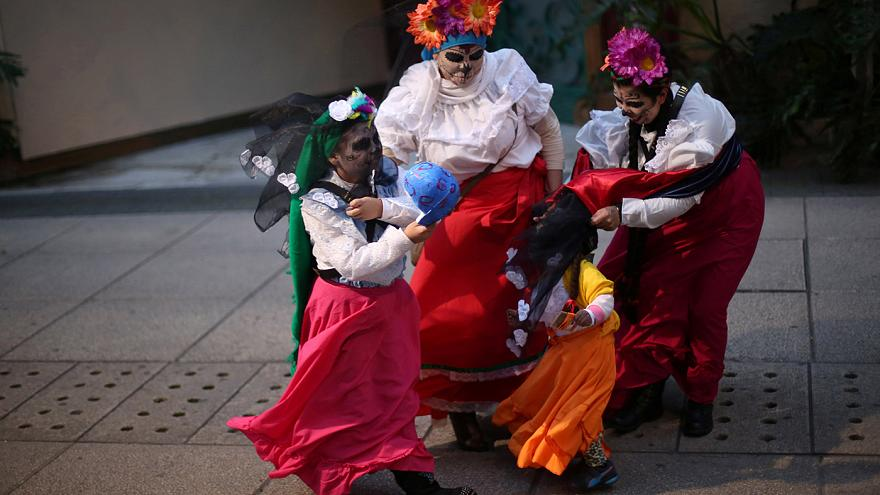 Annual Catrinas parade in Mexico City