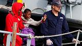 Around 1,100 rescued migrants arrive in Italy