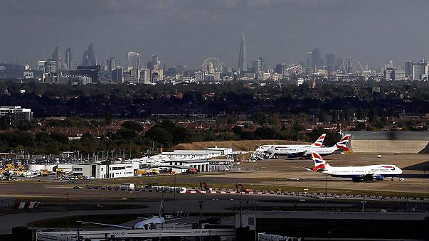 Protests over Britain's planned expansion to London's Heathrow airport
