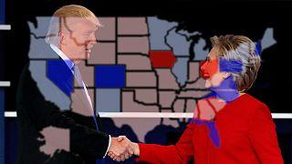 "Polls roll for Clinton, ""Polls Schmolls"" says Trump"
