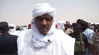Visite du ministre de l'Intérieur au camp de Tazalit (Niger)
