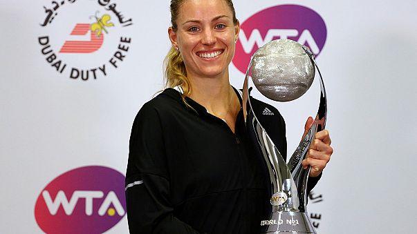 La tenista alemana Angelique Kerber lidera el Grupo Rojo de las finales del circuito femenino