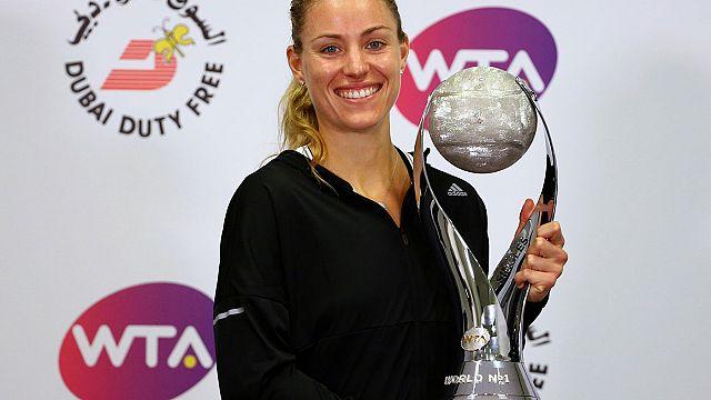 Angelique Kerber em grande nas WTA Finals