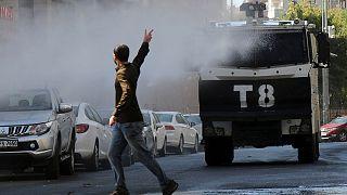 Protestas en Turquía contra el arresto de los alcaldes de Diyarbakir