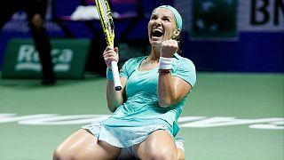 Tenis: 'Kadın ustalar'da ilk yarı finalist Kuznetsova