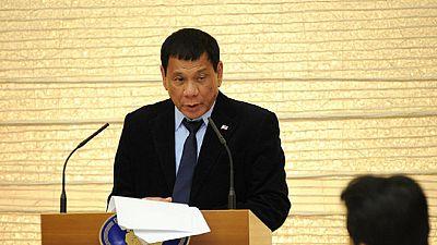 Rodrigo Duterte en visite au Japon