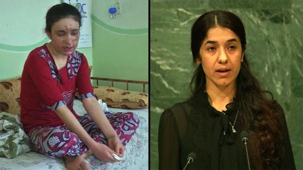 Saharov ödülü Ezidi kadınlara verildi