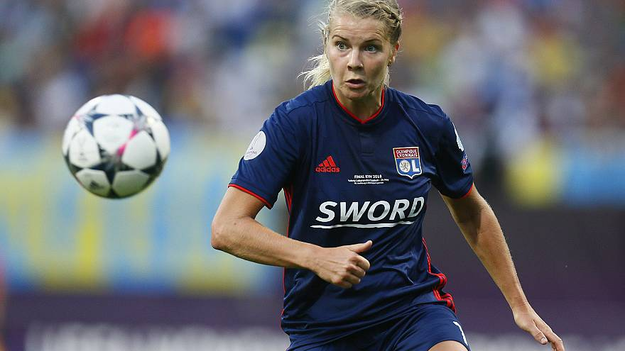Image: Ada Hegerberg during the the UEFA Women's Champions League Final