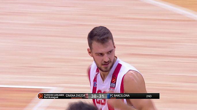 """Евролига. """"Барселона"""" уступила в Белграде, """"Панатинаикос"""" вырвал победу в Бамберге"""