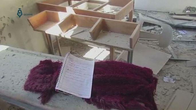 EUA e França acusam Rússia e Síria por bombardeamento a escola em Idlib
