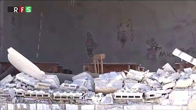 Iskolát bombáztak a szíriai lázadók Aleppó kormányerők uralta részén