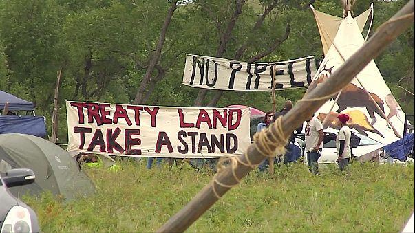 ABD'de petrol boru hattı inşasını protesto edenlere müdahale