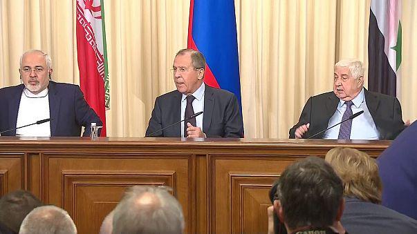 Russland, Iran und Syrien beraten über Bürgerkrieg in Syrien