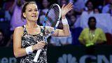 Vorjahressiegerin Radwanska fordert Kerber im Singapur-Halbfinale