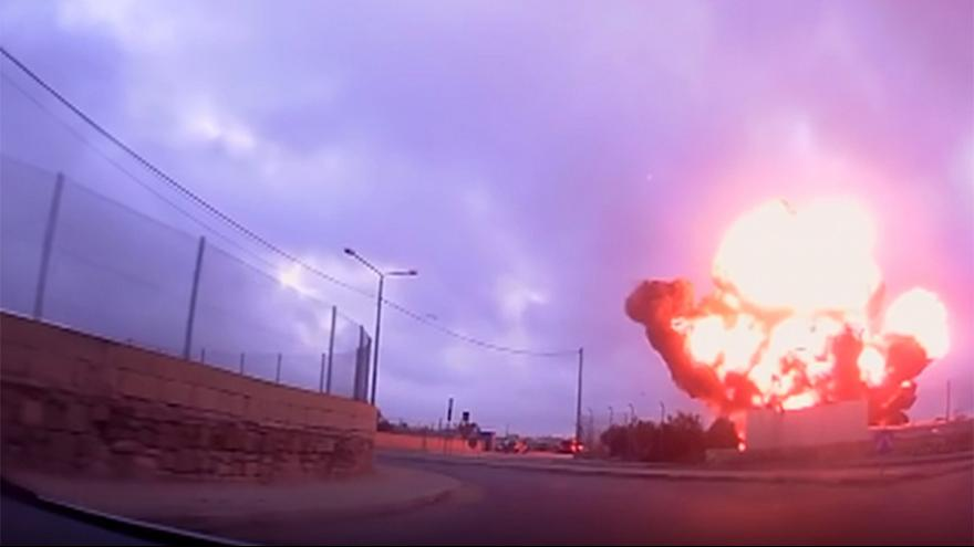 New footage shows Malta plane crash fireball