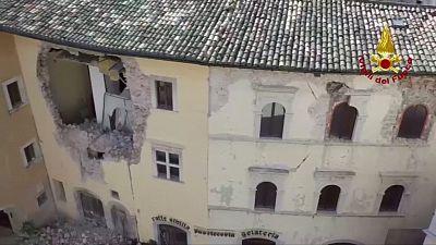 تازه ترین تصاویر خسارات ناشی از زلزله در مرکز ایتالیا