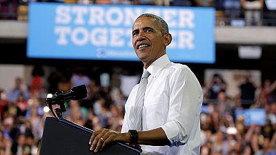 دفاع تمام قد اوباما از کلینتون در مبارزه های انتخاباتی