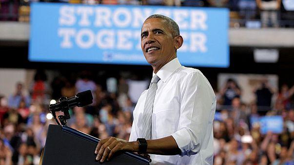 Başkanlık döneminin son günlerini yaşayan Obama Clinton için meydanlarda