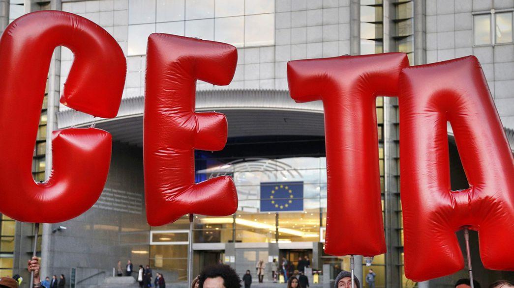 J-1 avant la signature de l'accord de libre-échange entre le Canada et l'UE