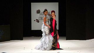 Models wow Paris catwalk wearing chocolate creations
