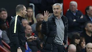 Mourinho sent off as United draw at home, Arsenal and Man City win