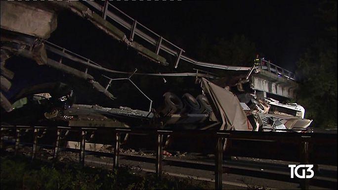 Un pont s'effondre sur une route italienne