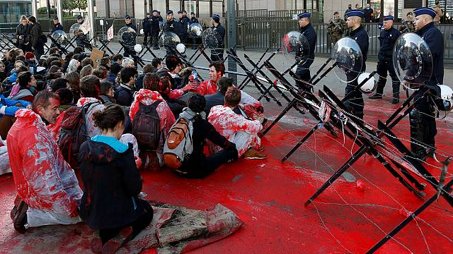 В Брюсселе протестуют против СЕТА