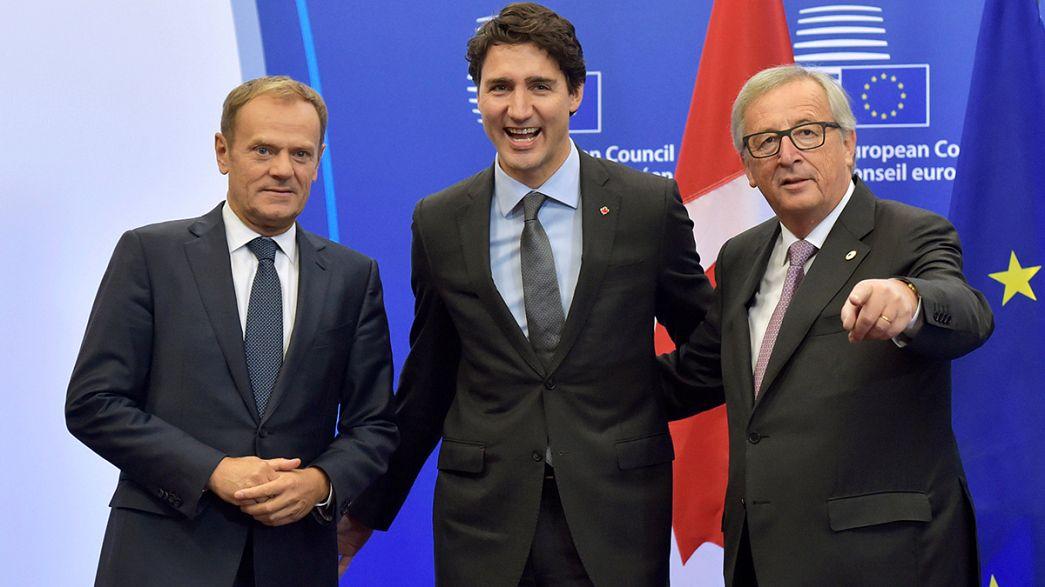 AB ile Kanada serbest ticaret anlaşmasını imzaladı