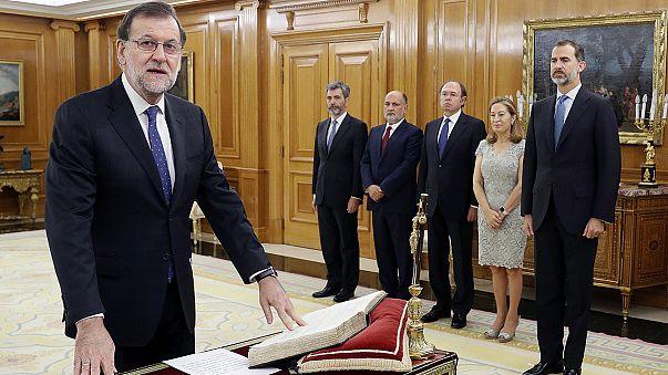 Az utolsó pillanatban iktatták be a régi-új spanyol kormányfőt