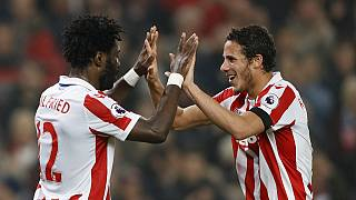Ivorian Bony & Egyptian Sobhi on target as Stoke beat Swansea 3 - 1