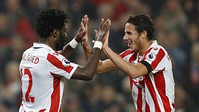 Ivorian Bony & Egyptian Sobhi on target as Stoke beat Swansea 3 - 1