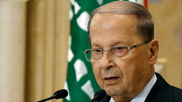 Örömünnep fogadta a megválasztott elnököt Libanonban