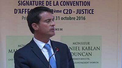 French premier in Abidjan