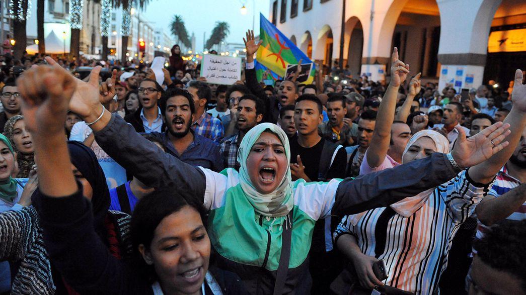 تجدد الاحتجاجات في المغرب اثر مقتل بائع سمك
