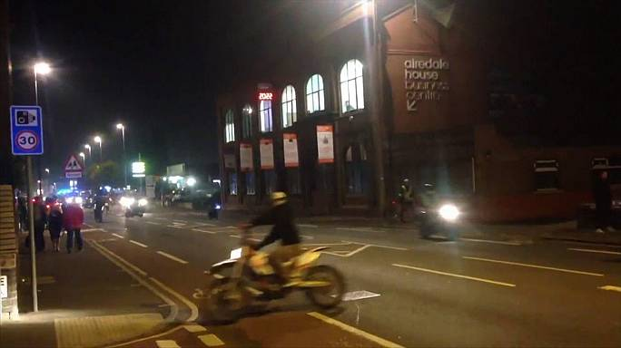 Halloween : motards survoltés à Leeds, motards nus à Moscou