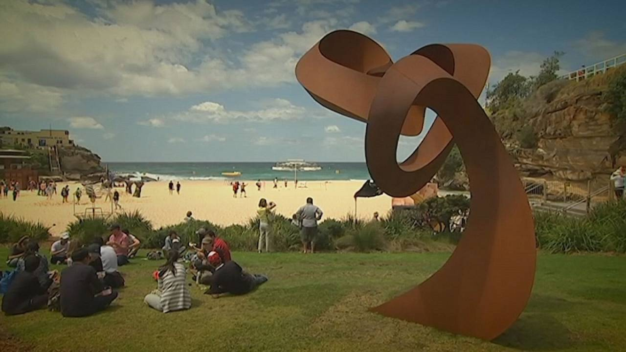 Australian sculpture show draws global artists to the beach