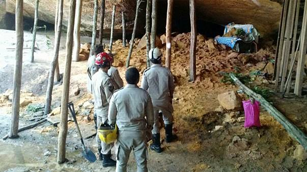 Brezilya'da dini tören sırasında mağara çöktü