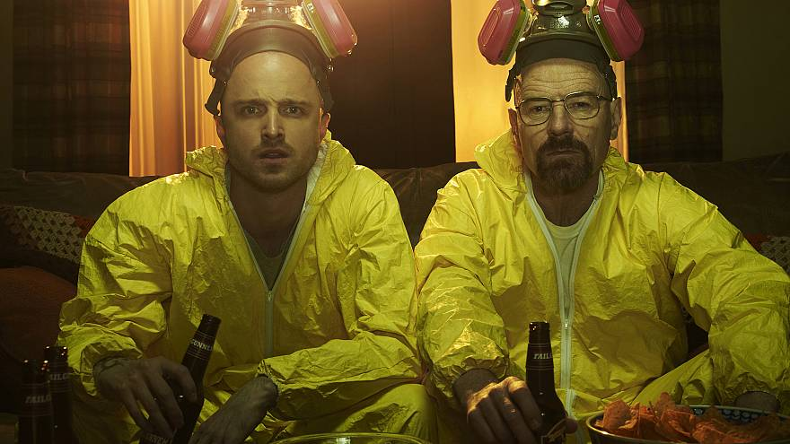 Image: Jesse Pinkman (Aaron Paul) and Walter White (Bryan Cranston) in Brea