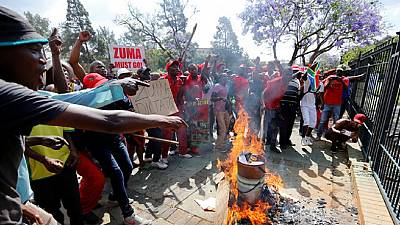 South Africa: 'Day of Action' against Zuma, Pretoria turned upside down