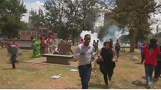 Mouvement d'humeur à Nairobi (Kenya )